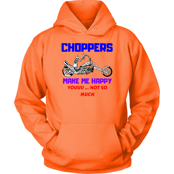 Choppers Make me Happy - Hoodie - fastandtune
