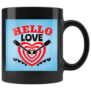 Hello Love - Black Mug - fastandtune