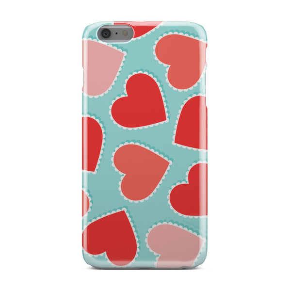 Orange Hearts - Phone case