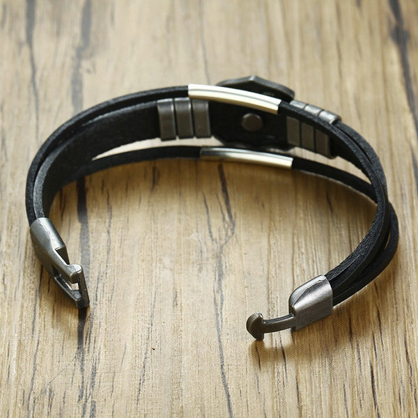 Triple Leather Bracelet