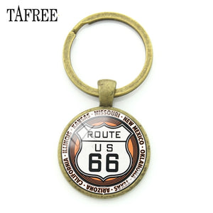 Route 66 Trendy Key Chains