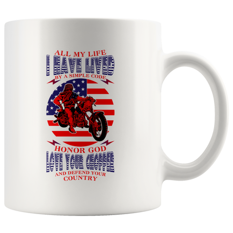 I have Lived by a Simple Code - Mug - fastandtune