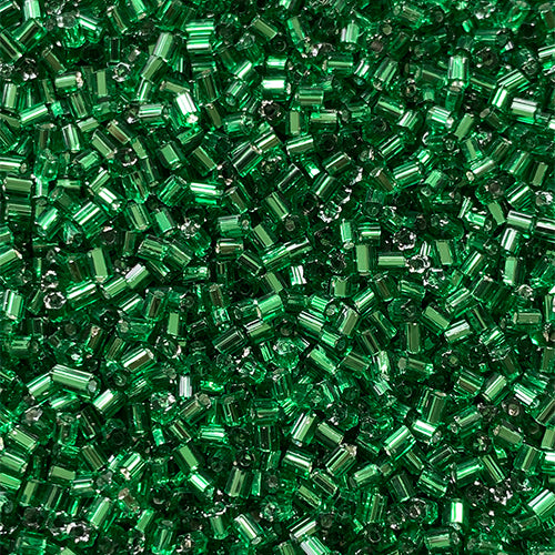 Forest / Christmas Green Bugle Seed Beads Direct From Easy Beads - 2mm (Hole 1mm)