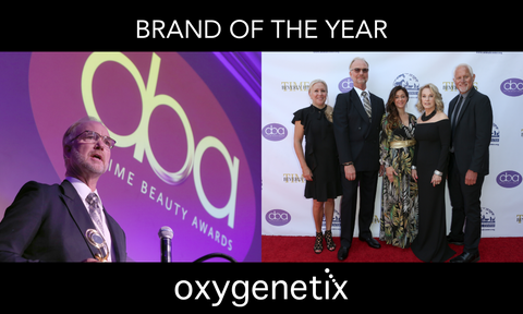 Oxygenetix Won Brand of The Year at the Daytime Beauty Awards