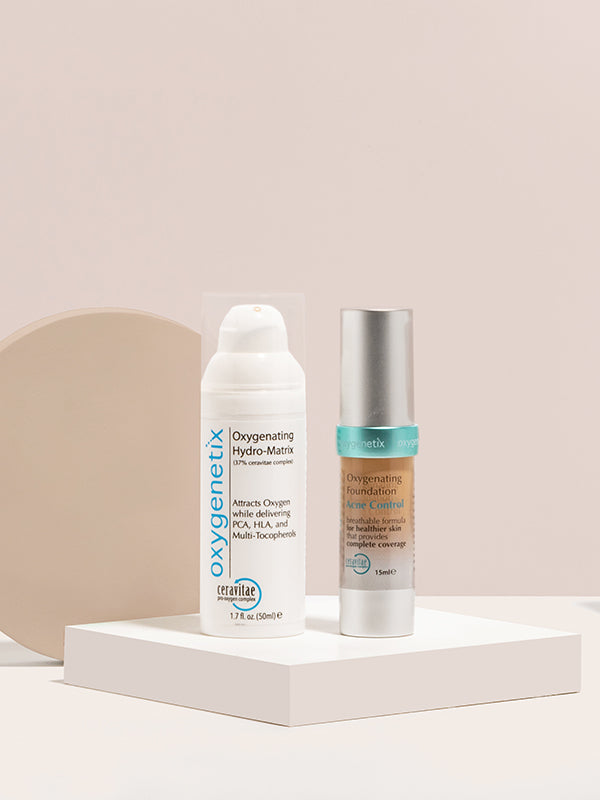 Acne Control Foundation & Oxygenating Hydro-Matrix Bundle (50ml)