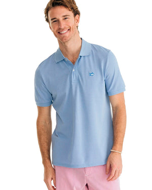 Mens Shortsleeve Jack Heather Performance Pique Polo