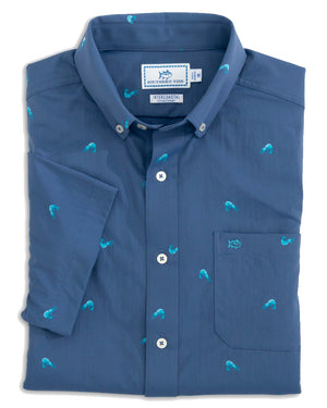Mens Shortsleeve Intercoastal Shrimp Sportshirt