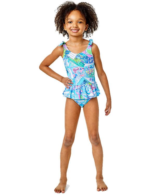Girls Vossie Upf 50 Plus Swimsuit