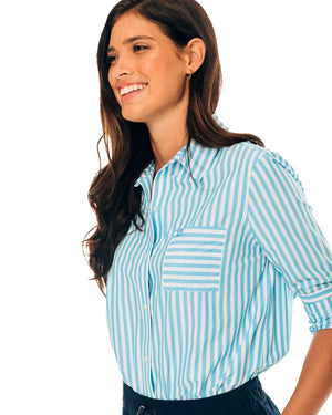 Womens Intercoastal Emery Button Front Shirt
