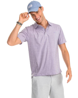 mens short sleeve coki beach performance polo by southern tide in elite wisteria