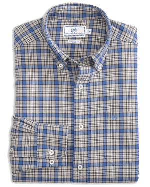 Mens Long Sleeve Point Joe Plaid Sportshirt