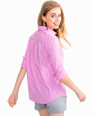 Womens Hadley Popover Gingham Intercoastal