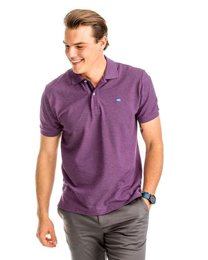 Mens Shortsleeve Heathered Skipjack Polo W/ Placket
