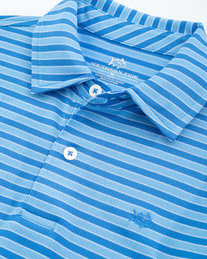 Youth  Bass Creek Stripe Performance Polo