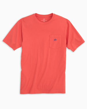 Mens Shortsleeve Skipjack Embroidered Pocket Tee