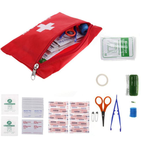 12Pcs Person Portable Outdoor Waterproof EVA First Aid Kit For Family Or Camping Travel Emergency Medical Treatment
