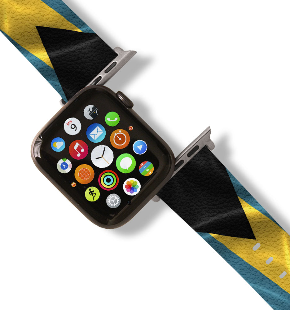 Bahamas Flag Apple Watch Band