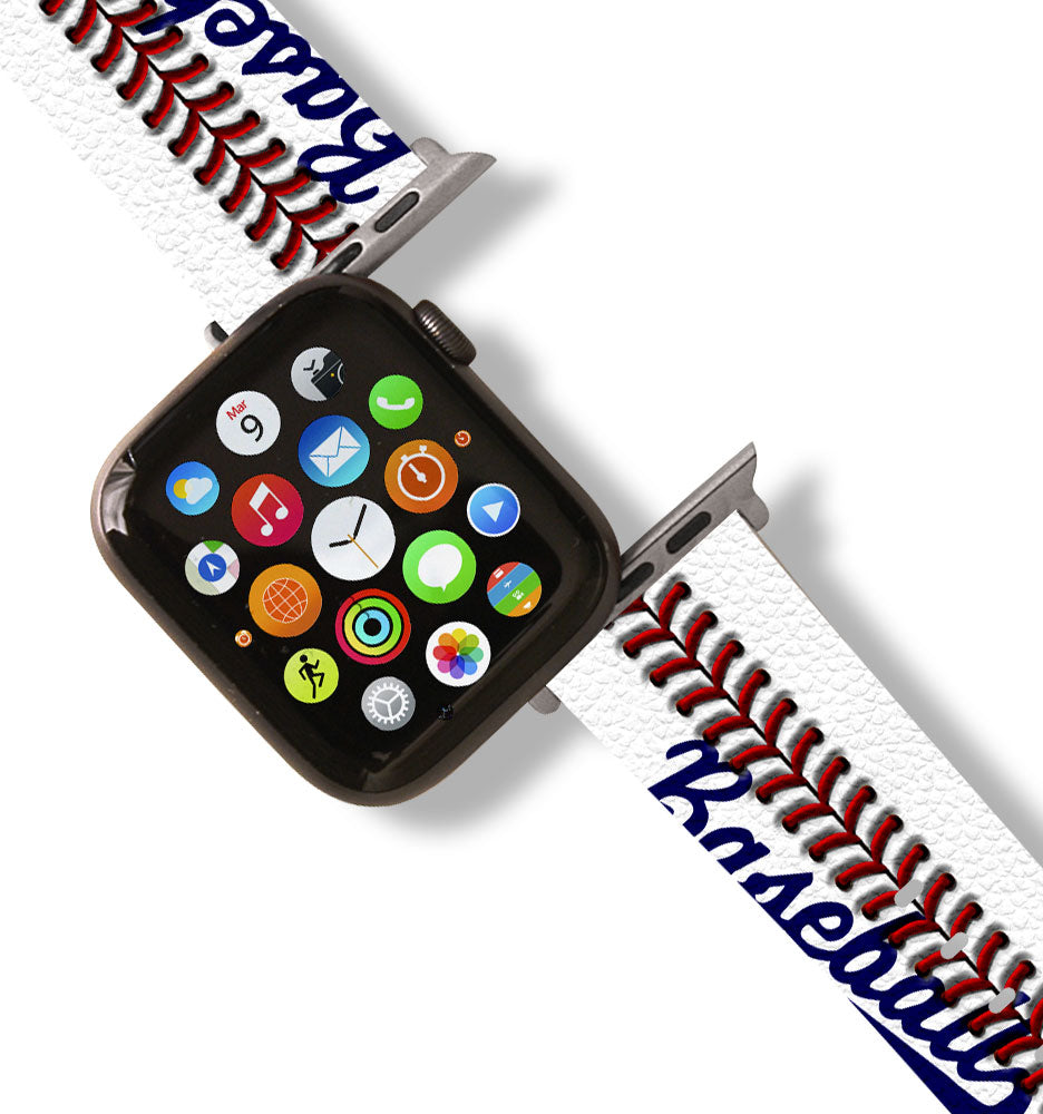 Baseball Inspired Apple Watch Band