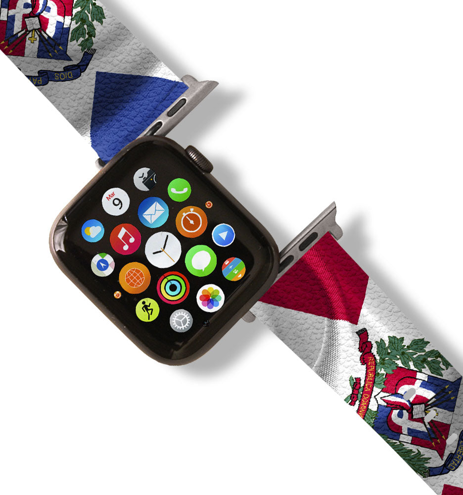 Dominican Republic Flag Apple Watch Band