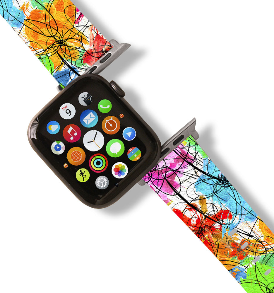 Wild Flower - Floral Apple Watch Band
