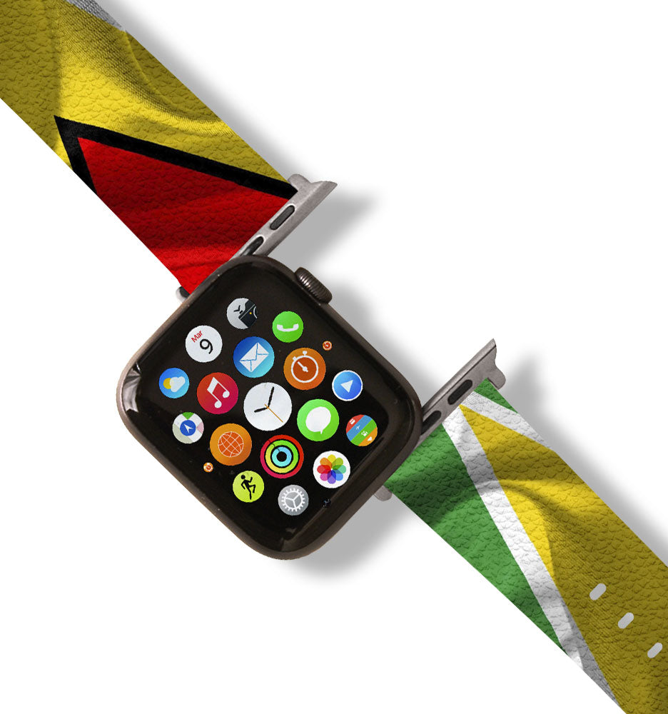 Guyana Flag Apple Watch Band