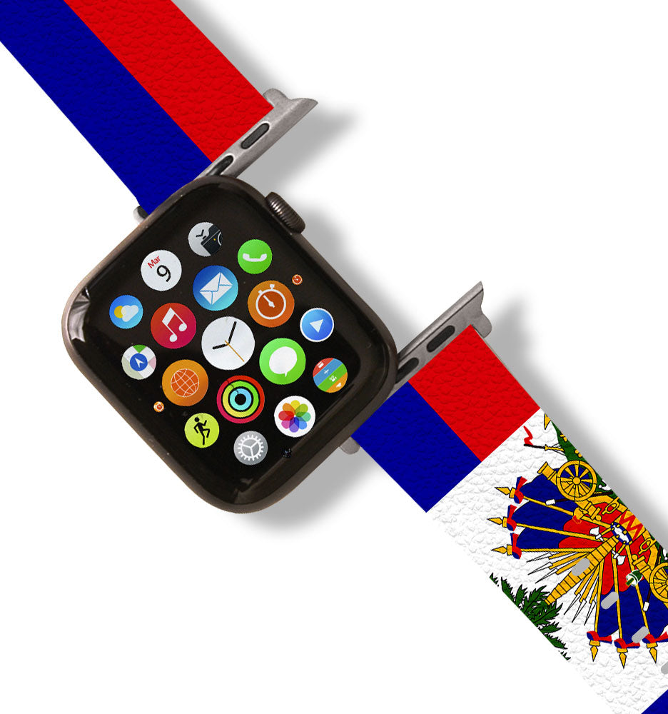 Haitian Flag Apple Watch Band