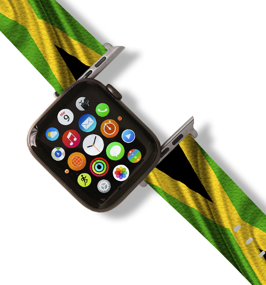 Jamaican Flag Apple Watch Band