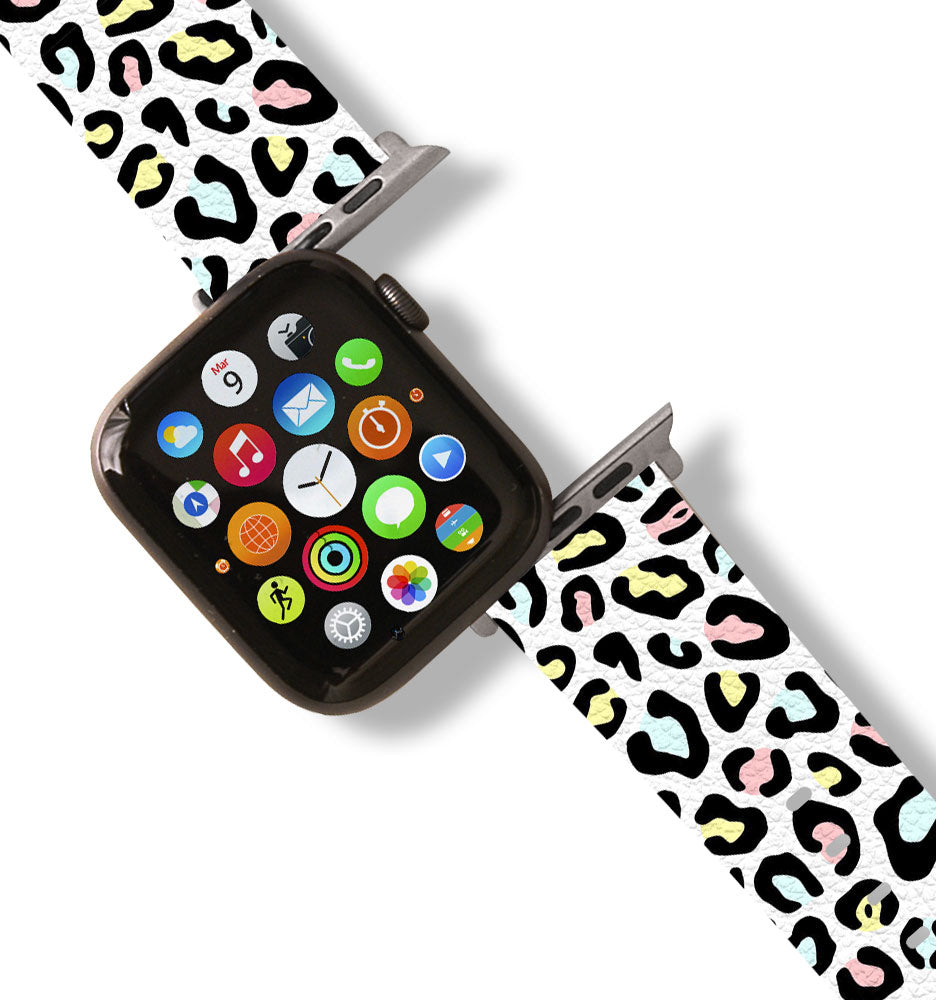 Rainbow Leopard Apple Watch Band