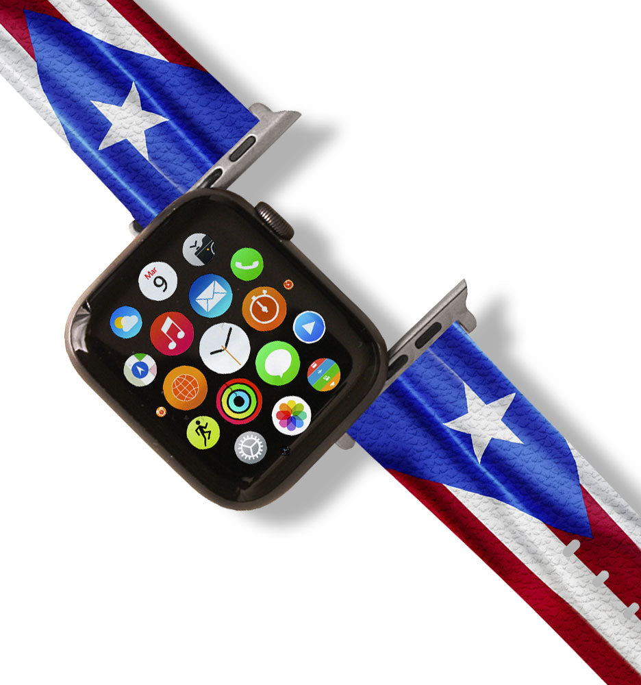 Puerto Rico Flag Apple Watch Band