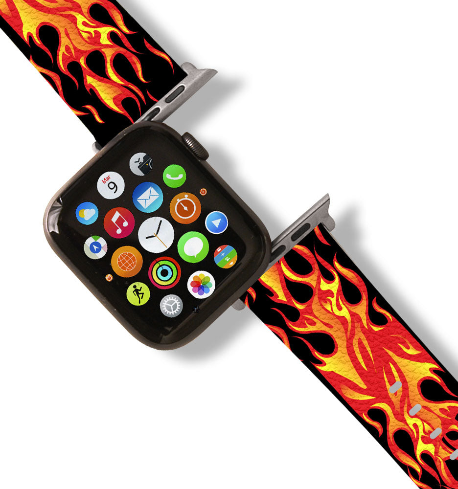 Red Hot Flame Apple Watch Band