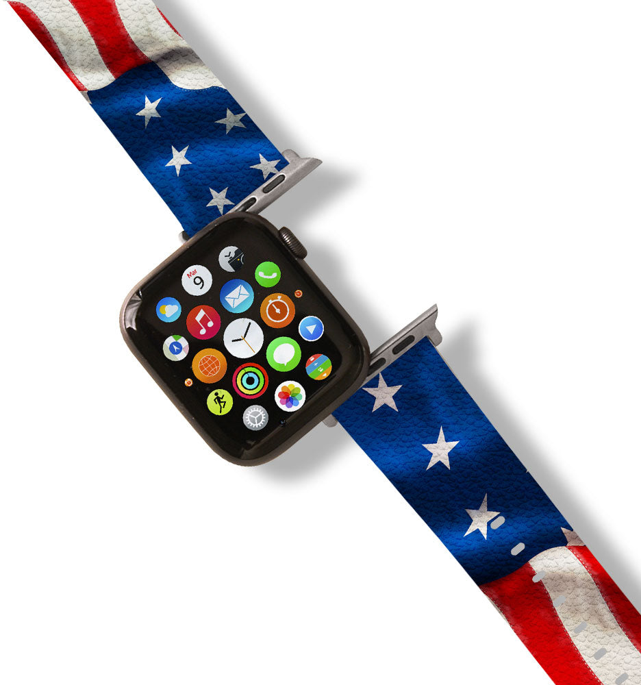 American Flag Apple Watch Band