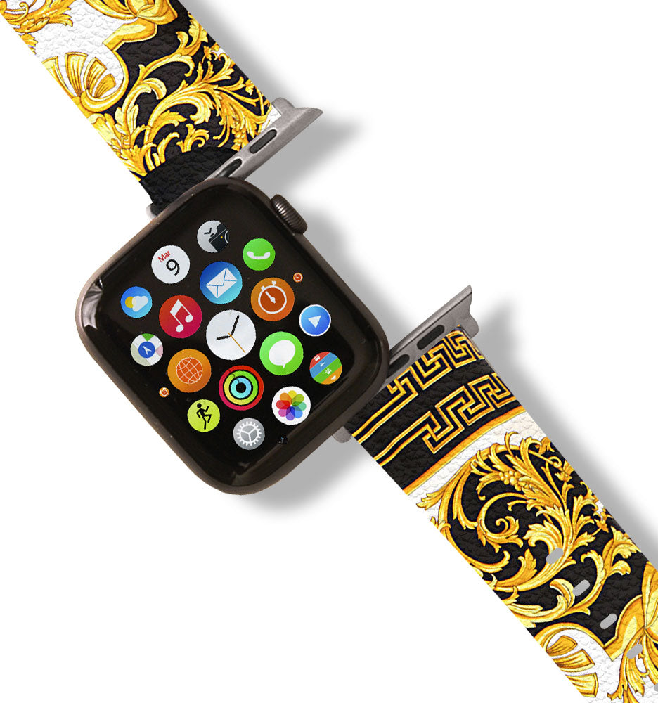 GV Black & Gold Apple Watch Band