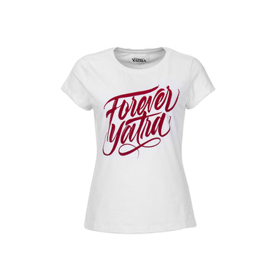 CAMISETA BLANCA FOREVER YATRA RED COLOR