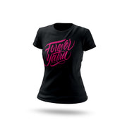 CAMISETA NEGRA FOREVER YATRA ROSE COLOR