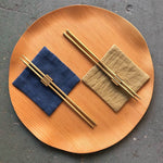 Visser Solid Brass Chopsticks & Holder
