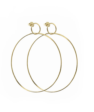 Gold Double Hoop Earings (pair)