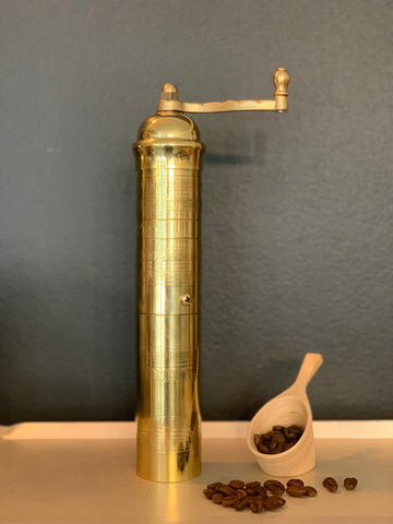Greek Brass Coffee Grinder