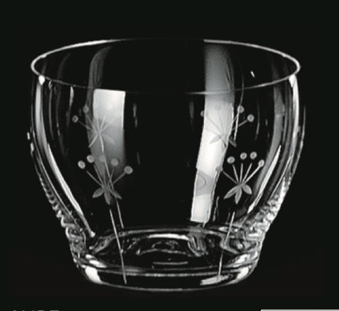 Hand Engraved Old Fashioned Glass