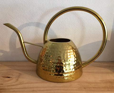 Textured Brass Watering Can