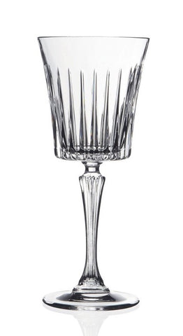 Pressed Crystal Wine Glass Timeless