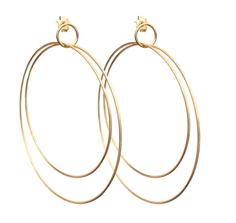 Triple Hoop Earrings (pair)