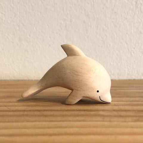 Japanese Carved Wooden Dolphin