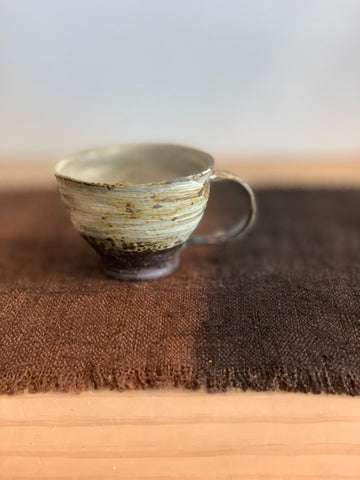 Brown and White Open Mug from Osaka
