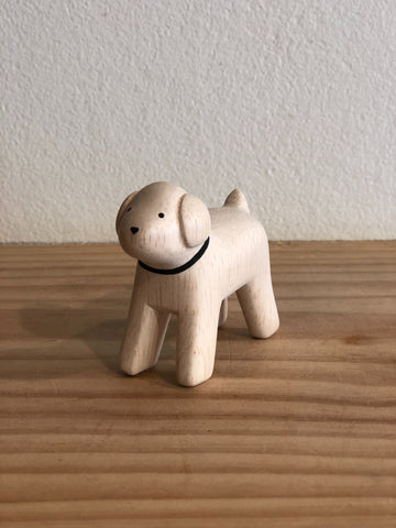 Japanese Carved Wooden Dog