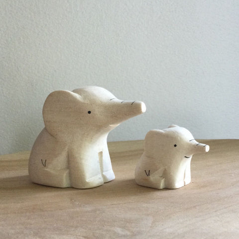 Japanese Carved Wooden Animal Pairs