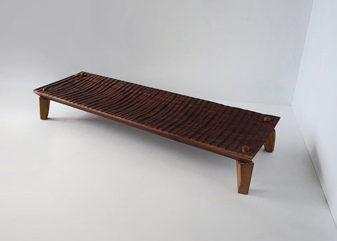 Opus Lab Raised Walnut Serving Platter (hand carved)