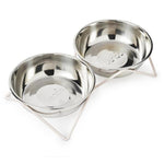 Double Woof Dog Bowl