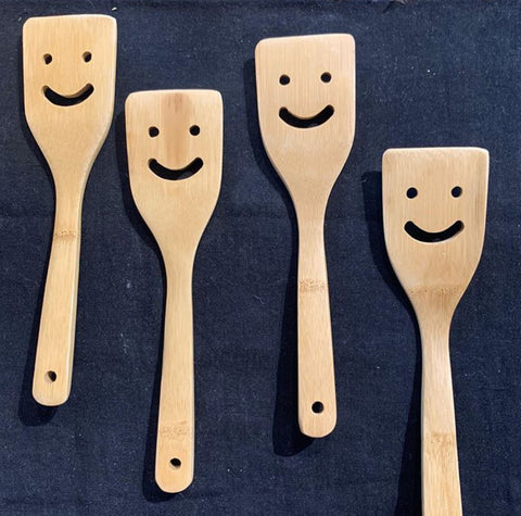 Spatula Wooden Smiley Face