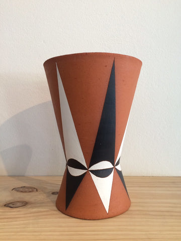 "Sharon Muir ""Geometric"" Ceramic Planter/Vase"
