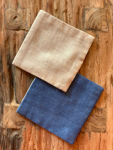 Cloth Coasters Pair - hand made in Japan
